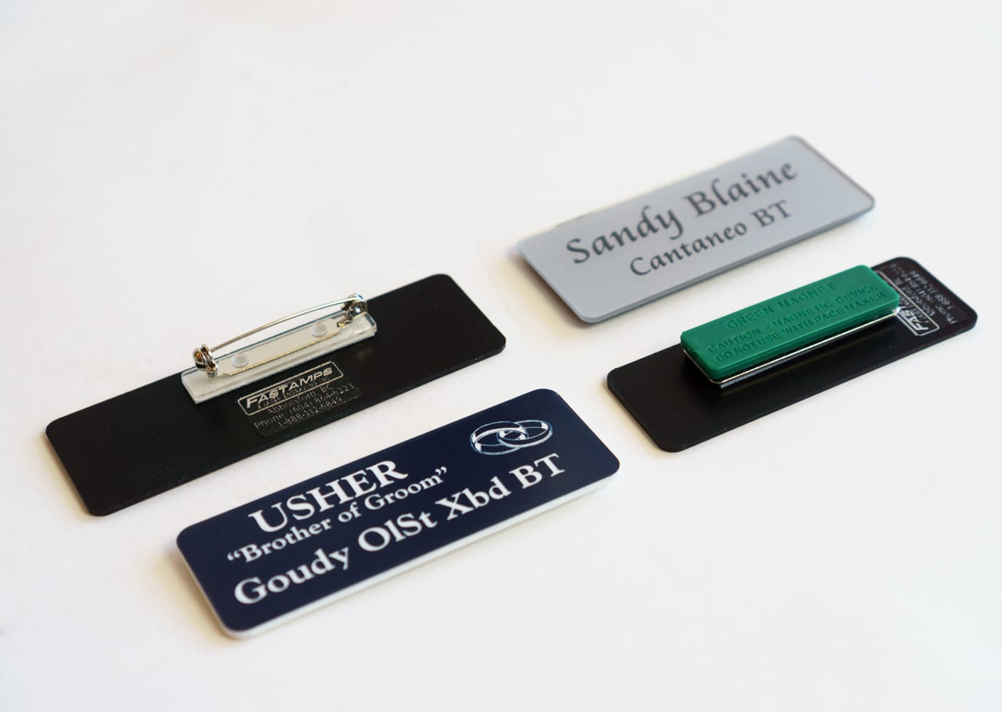 custom engraved name tags Abbotsford